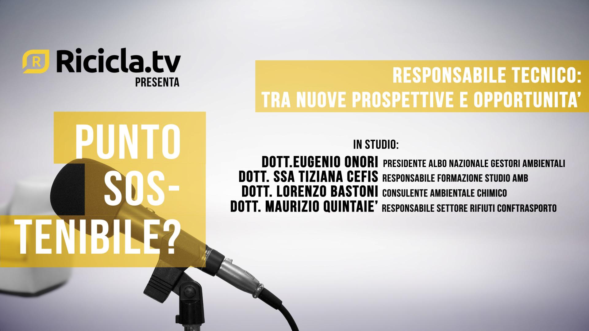 RESPONSABILE TECNICO: TRA NUOVE PROSPETTIVE E OPPORTUNITÀ