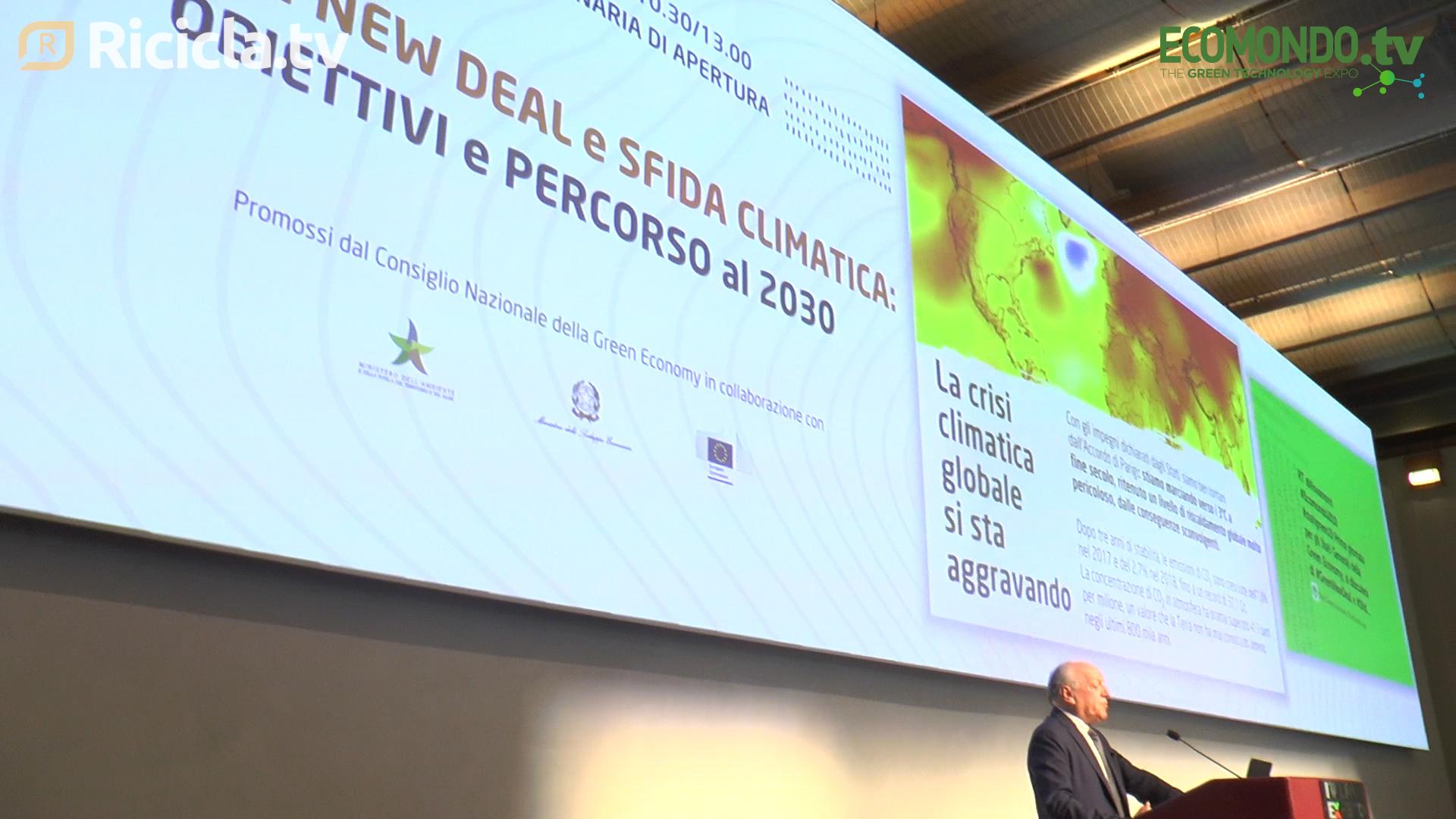 "ECOMONDO 2019 - GREEN ECONOMY, RONCHI: ""ITALIA PERDE POSIZIONI"""