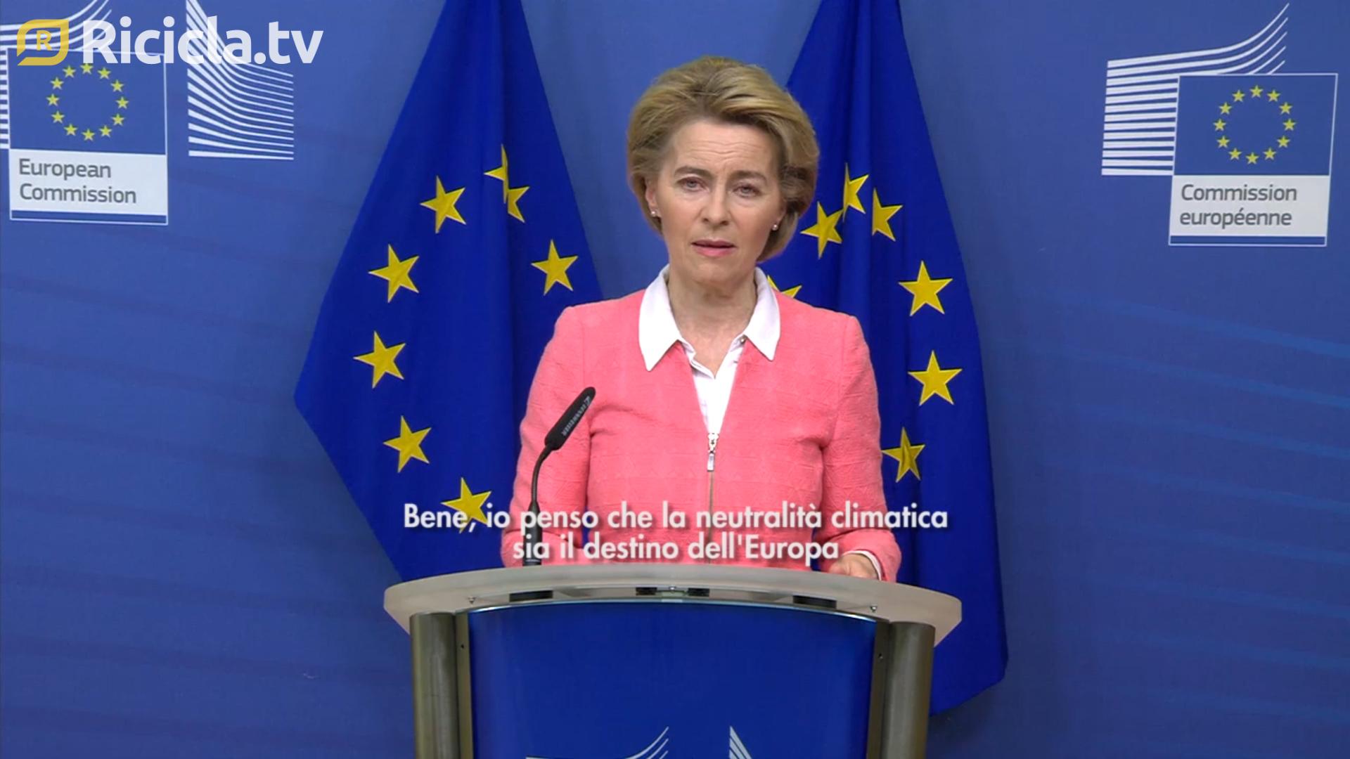 """EUROPA, LA COMMISSIONE PRESENTA LA """"CLIMATE LAW"""" - TG"""
