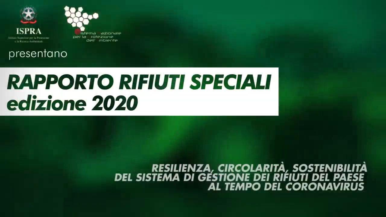 RAPPORTO RIFIUTI SPECIALI 2020